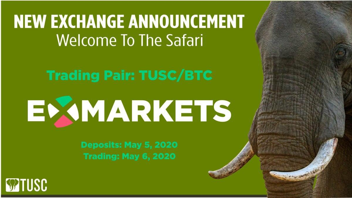 TUSC Listed on ExMarkets