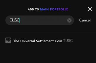 Search TUSC in Blockfolio